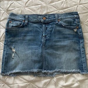 Vintage 7 Jeans Denim Skirt